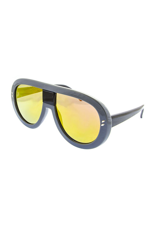Radar Black with Yellow Revo Lens Shades