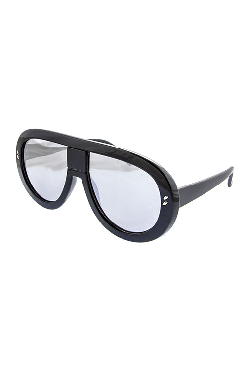 Radar Black with Silver Revo Lens Shades