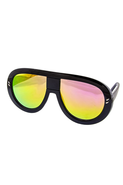 Radar Black with Orange Revo Lens Shades