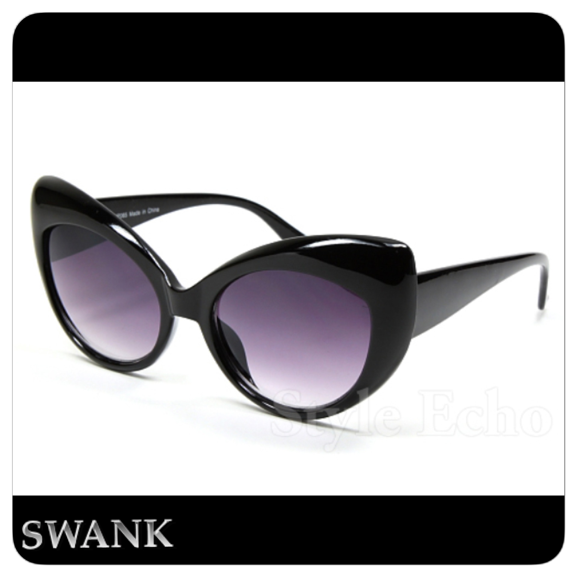 Swank On It Sunglasses Black